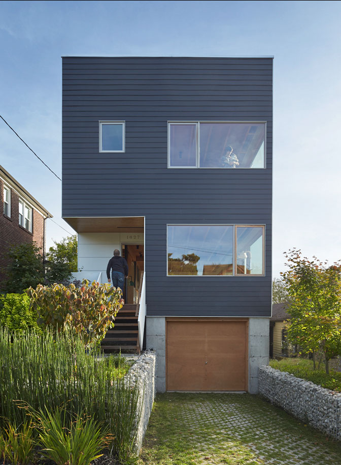 Lane street modular house for Modern prefab homes seattle