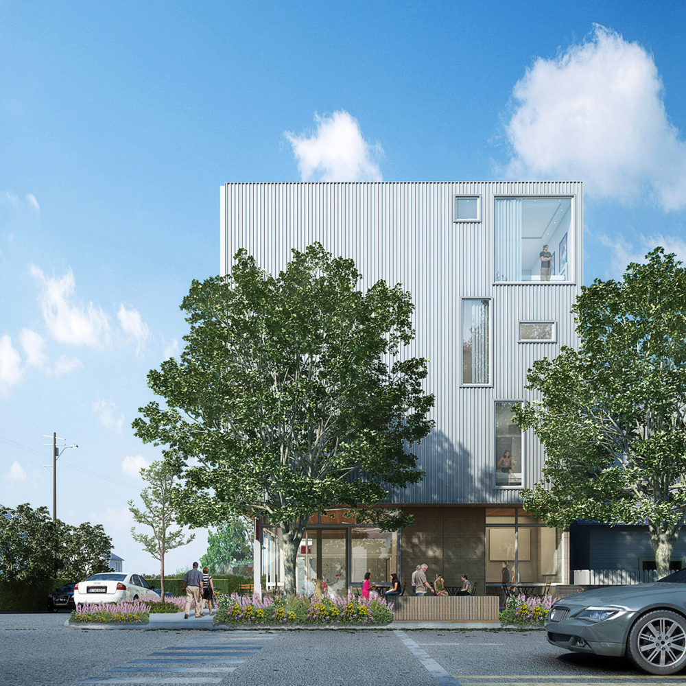 Art Inn Exterior Rendering   Seattle Architecture